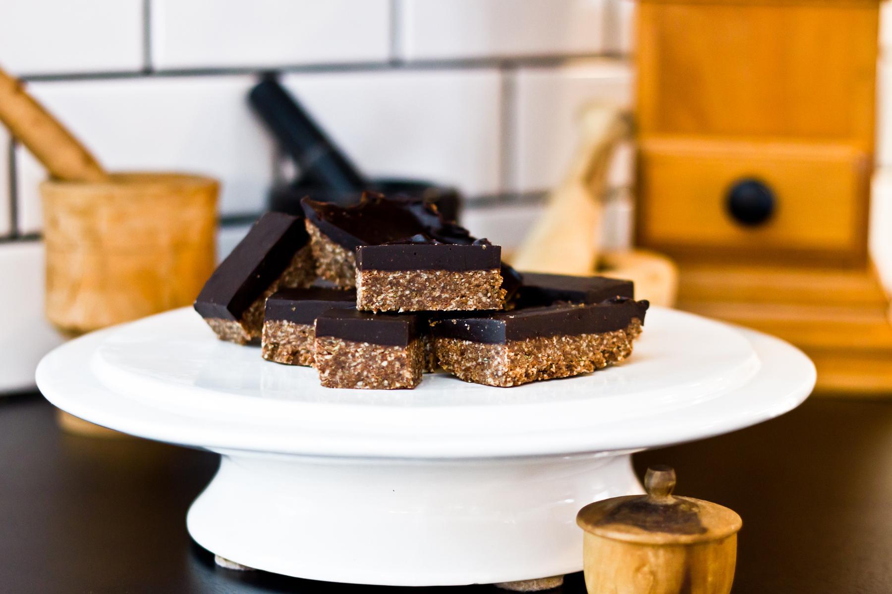 Barres chocolatées et mielleuses
