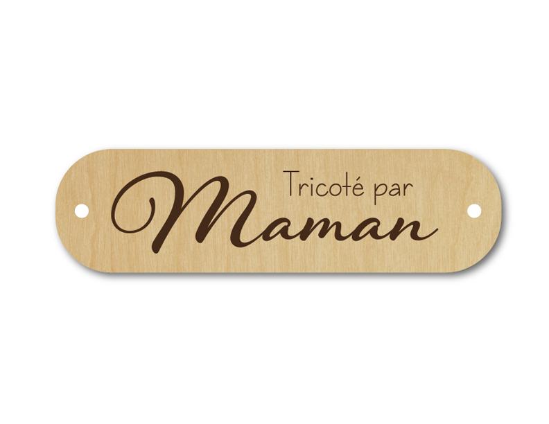 Bouton rectangle tricoté par maman 136