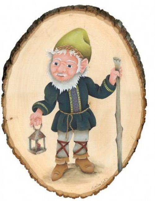 Gnome de jardin (garçon)