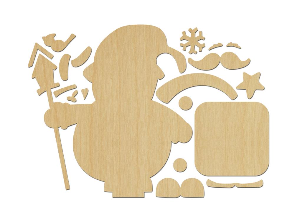 Père Noël rond rond (bois)