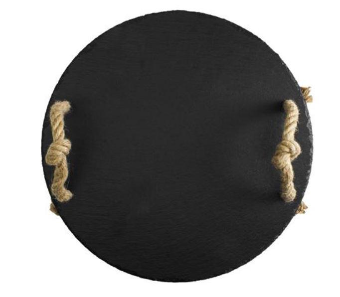 Ardoise noire ronde