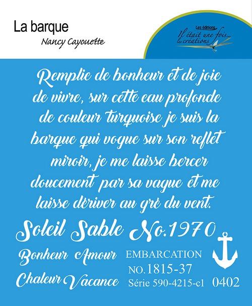 La barque - Nancy Cayouette