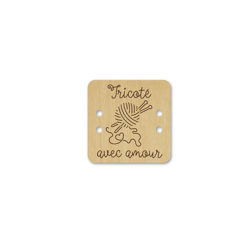 Bouton carré - tricoté avec amour 144
