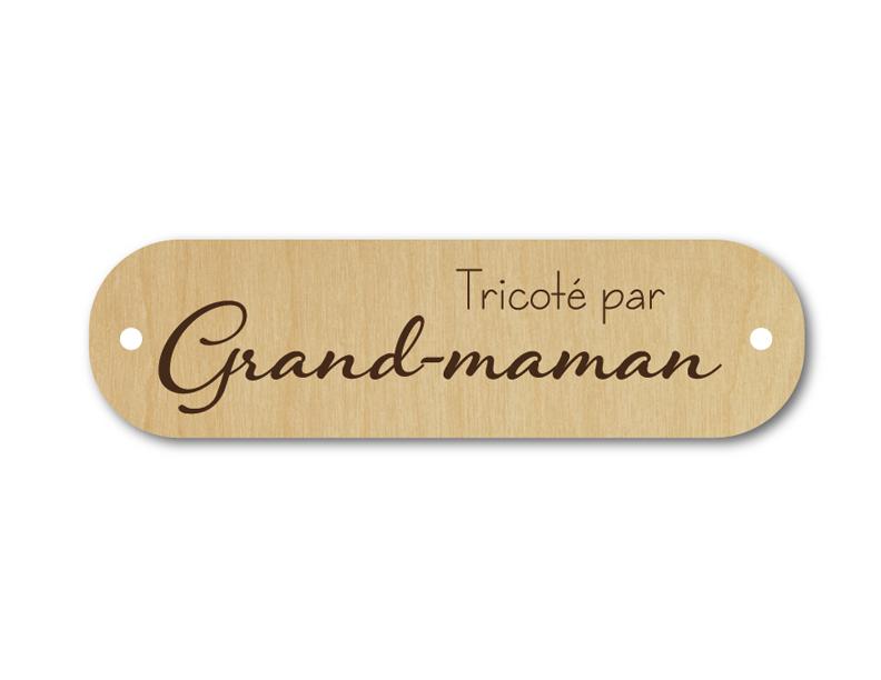 Bouton rectangle tricoté par grand-maman 137