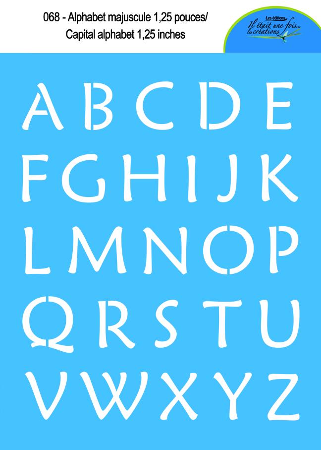 Alphabet majuscule 1,25'' 068