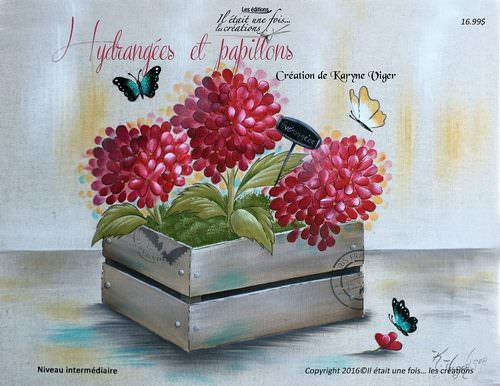 Hydrangées et papillons