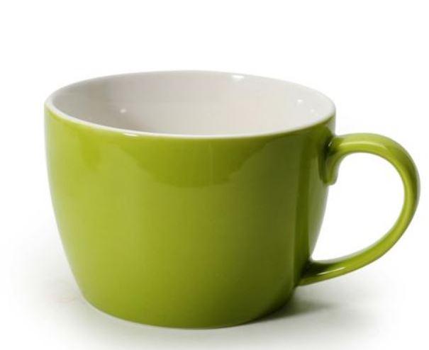 Tasse à café au lait verte