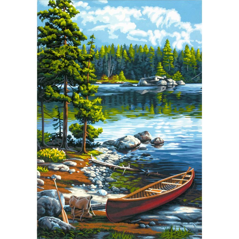 Canot sur le lac 91446