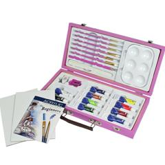 Kit parfait pour le débutant peinture acrylique( rose)