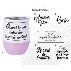 VERRE À VIN STAINLESS AC-521-1 LE ROSÉ DE L'AMITIÉ B/M
