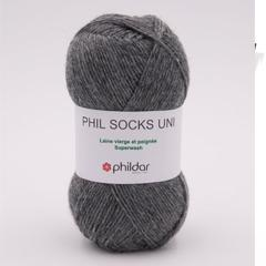 Phil socks de Phildar rouge