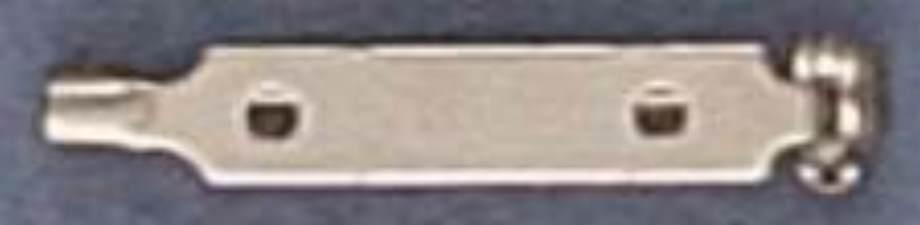 Épinglette 25mm silver nickel