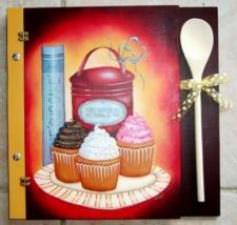 Style cup cake (Cartable en bois)