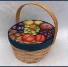 Panier de fruits et de noix