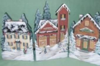 Village de Noël no 4 bois