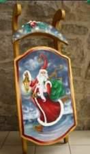 Un pere Noël vite sur ses patins