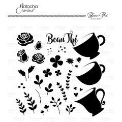 Beau-thé pochoir