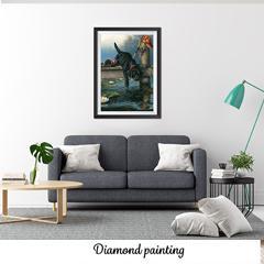 Diamond painting Sur le bord du quai
