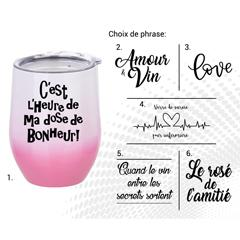 VERRE À VIN STAINLESS AC-522-2  LE ROSÉ DE L'AMITIÉ B/R