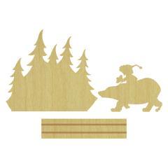 Forêt polaire (Pièce de bois)