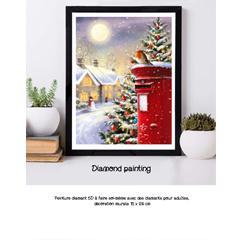 Diamond painting le courrier d'hiver