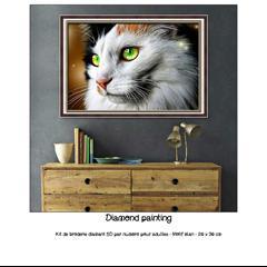 Diamond painting Chat