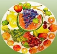 Une assiette tout en couleur