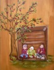 Pomme en famille