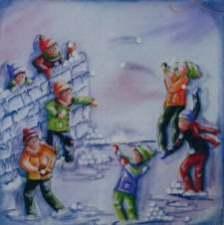 La bataille de boule de neige