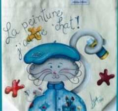 La peinture j'aime chat !