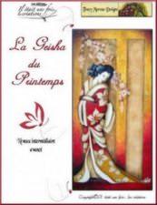 Geisha et fleurs de printemps