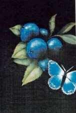 papillons et bleuets