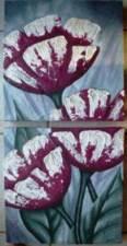 Fleurs texturé