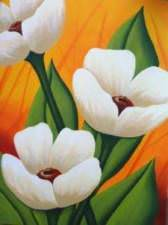 Trio de fleurs blanche