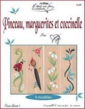 Pinceau marguerites et coccinelle