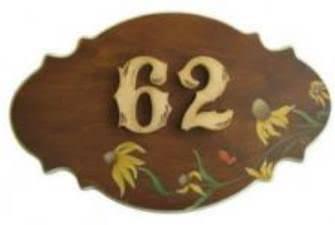 Plaque adresse fleuris