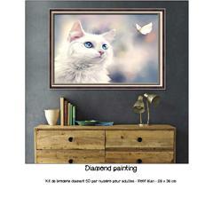 Diamond painting Chat et papillon