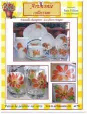 Vaisselle Champêtre les fleurs rouges