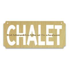 Plaque chalet 111