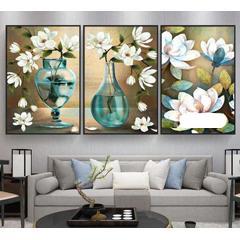 Diamond painting Trio de fleurs