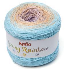Spring Rainbow 54 - Bleu ciel clair-Beige-Mauve