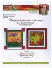Marguerites fantaisies et lys rouge