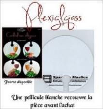 Assiette en plexiglass 7.5 ''