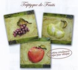 Tryptique de fruits