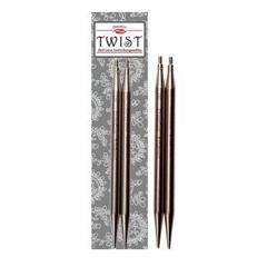 Aiguilles ChiaoGoo 5'' TWIST Lace Tips  4mm (small)