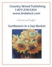 Sunflowers in a sap bucket