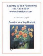 Pansies in a sap bucket