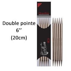 Aiguilles ChiaoGoo 20 cm double pointes 6.5mm