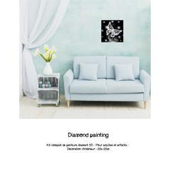 Diamond painting Papillon blanc