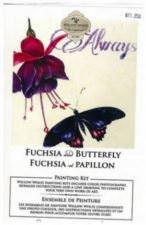 Fuchsia et papillon